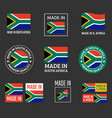 made in south africa icon set product labels of vector image vector image