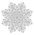 Mandala Oriental decorative element Islam Arabic vector image