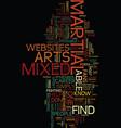 mixed martial arts through the web text vector image vector image