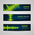 Music banners set vector image vector image