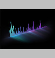 neon glowing music track sound wave modern styled vector image