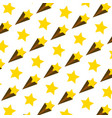 nice shooting star art background vector image vector image