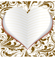 notebook in form heart vector image vector image