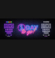 one day to go neon banner design template vector image vector image