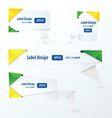 Origami label design brazil Style vector image