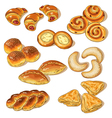 Pastry set vector image