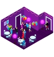 People At Party Isometric vector image vector image