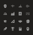 personal development - flat icons vector image