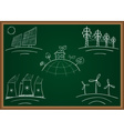 power station energy green table vector image