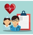proffessional medical doctor and nurse vector image