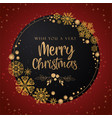red merry christmas banner background vector image vector image
