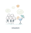 Relaxation vector image vector image