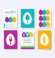 restaurant easter menu cover design set vector image vector image