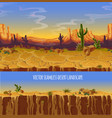 seamless desert landscape game cartoon vector image