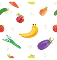 Seamless Pattern with Fruits and Vegetables vector image vector image
