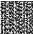 seamless pattern with ikat ribs in blsck vector image