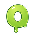 slimy font type letter o vector image vector image