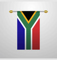 south africa hanging flag vector image vector image