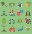 sport games icons flat design ping pong vector image