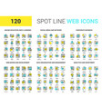 spot line web icons vector image vector image