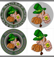 st patricks day leprechaun portrait vector image