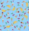 summer poster background with ice cream cone vector image vector image