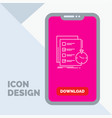 todo task list check time line icon in mobile for vector image