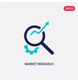 two color market research icon from business and vector image vector image