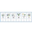 worldwide travel website and mobile app onboarding vector image vector image