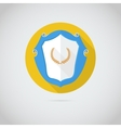 Flat icon with laurel wreath vector image