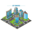isometric business city concept vector image