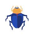 Egyptian scarab vector image