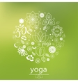 yoga logo in green vector image