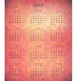Abstract 2015 year polygonal calendar vector image vector image