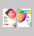abstract gradient modern geometric flyer and poste vector image vector image