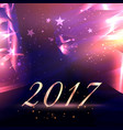 abstract stars background with 2017 new year text vector image vector image