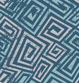 ancient blue spiral seamless pattern with grunge vector image vector image