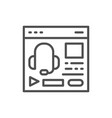 audio course podcast education website web page vector image vector image