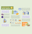 banking infographics set with business people vector image