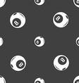 Billiards icon sign Seamless pattern on a gray vector image