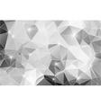 Black and white abstract background shiny polygon vector image vector image