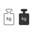 black and white weights vector image