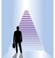 business staircase vector image vector image