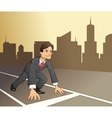 Businessman starting the race to success 4 vector image vector image