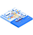 cargo ship transport logistics isometric vector image