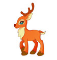 cartoon style little deer vector image vector image