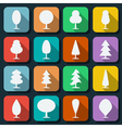 Cartoon trees silhouettes vector image vector image