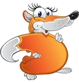 Cheerful fun Fox vector image