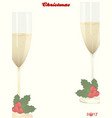 christmas copy space background with champagne vector image vector image