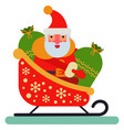 christmas santa claus sleigh character new vector image vector image